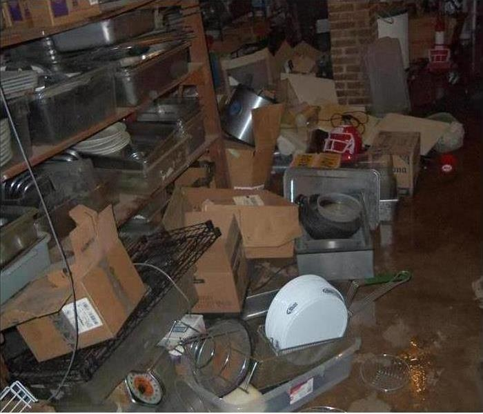 Flooded Basement in San Angelo Before